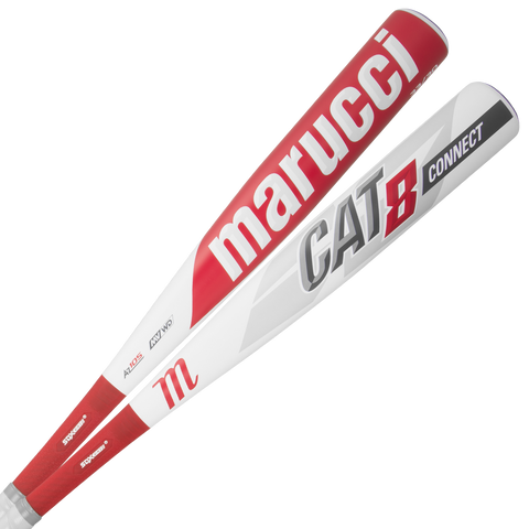 Marucci 2019 Cat Connect (-3) BBCOR Bat - White Red