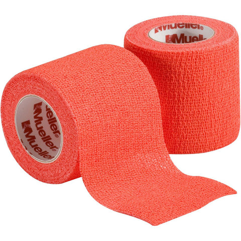"Mueller Cohesive Spatting Tape One Roll  2"" X 6 Yds - Oramge"
