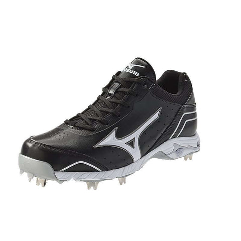Mizuno 9-Spike Advanced Classic 7 Low Men's Metal Cleats - Black White