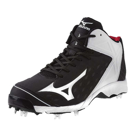 Mizuno 9-Spike Advanced Swagger 2 Mid Men's Metal Cleats - Black White