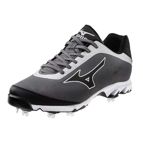 Mizuno 9-Spike Vapor Elite 7 Low Men's Metal Cleats - Grey Black