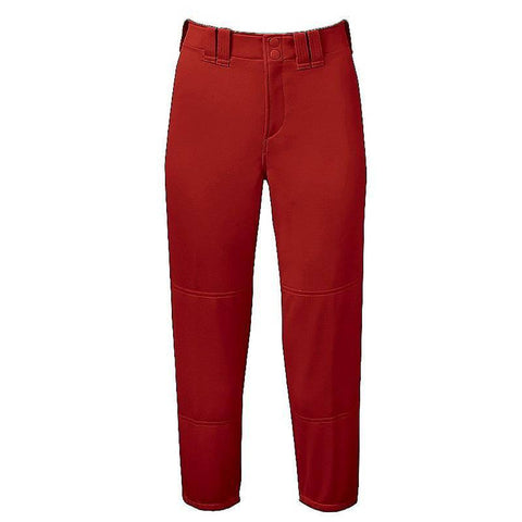 Mizuno Select Belted Low Rise Fastpitch Pant - Red - Baseball Apparel, Softball Apparel - Hit A Double
