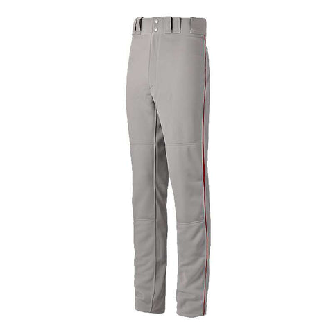 Mizuno Premier Pro Men's Piped Baseball Pant G24 - Grey Red
