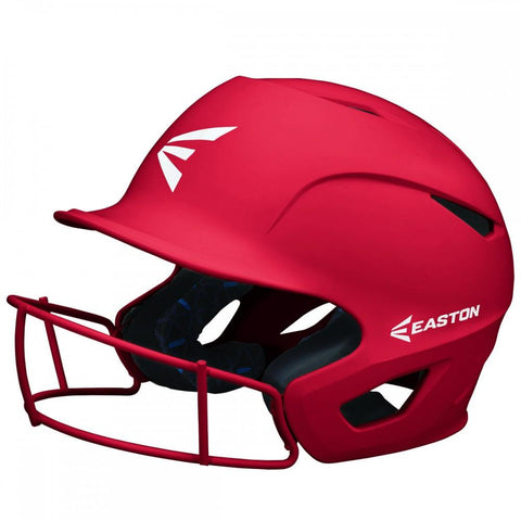 Easton Prowess Matte Helmet with Fastpitch Facemask - Scarlet Red - Baseball Helmets - Hit A Double