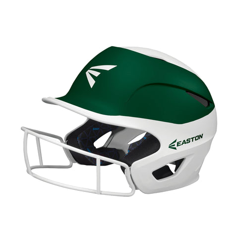 Easton Prowess Fastpitch Helmet Two Tone with Mask - White Green