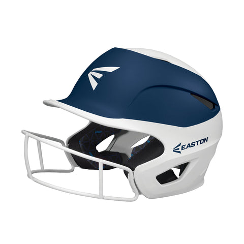 Easton Prowess Fastpitch Helmet Two Tone with Mask - White Navy
