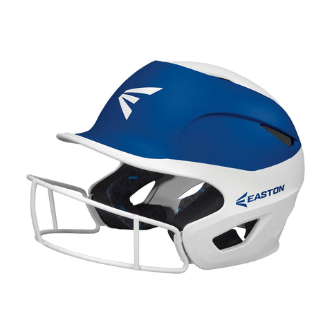 Easton Prowess Fastpitch Helmet Two Tone with Mask - White Royal