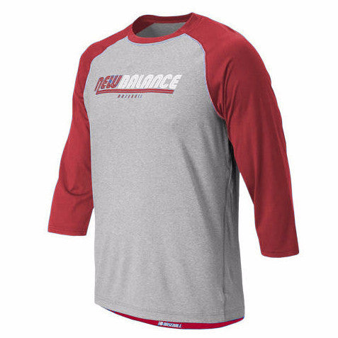 New Balance NB Raglan Baseball Top - Red