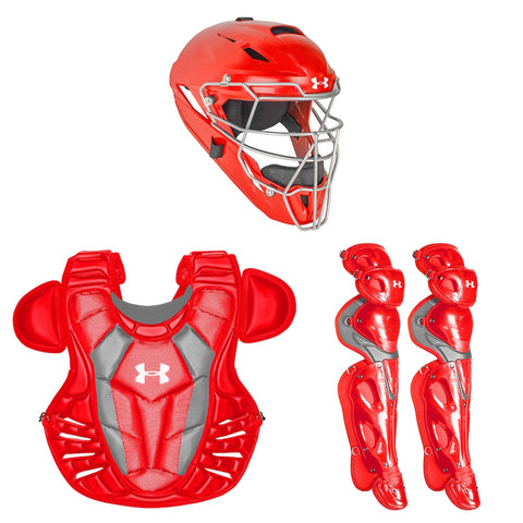 Under Armour Converge UACK3-AP Adult Pro Catchers Kit - Scarlet