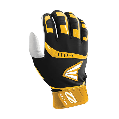 Easton Walk-Off Adult Batting Gloves - Black Gold