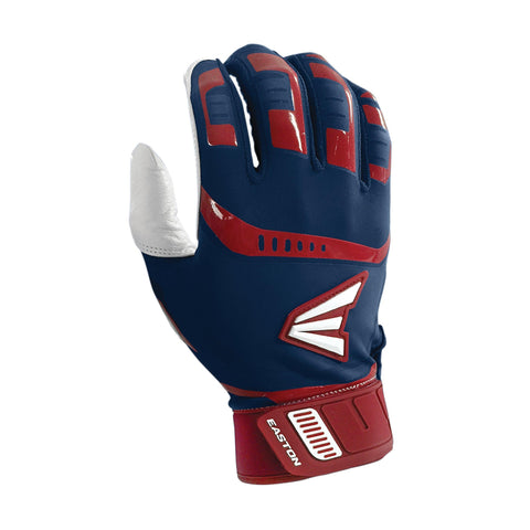 Easton Walk-Off Adult Batting Gloves - Navy Red