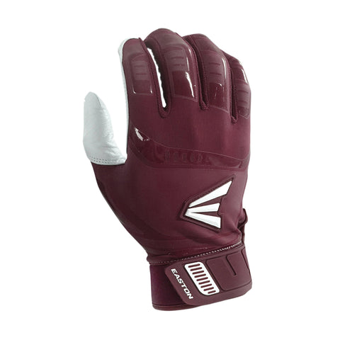 Easton Walk-Off Adult Batting Gloves - White Maroon