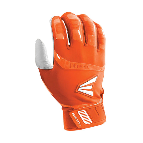 Easton Walk-Off Adult Batting Gloves - White Orange