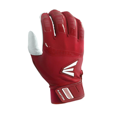 Easton Walk-Off Adult Batting Gloves - White Red
