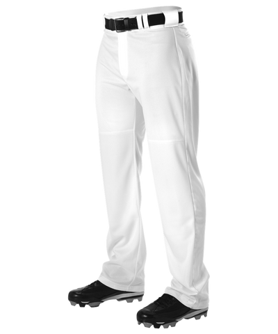 Alleson PWRPP Adult Warp Knit Wide Leg Baseball Pant - White - Baseball Apparel - Hit A Double