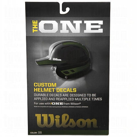 Wilson One Batting Helmet Decal Kit Dark Green - 1 ea