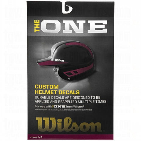 Wilson One Batting Helmet Decal Kit Maroon - 1 ea
