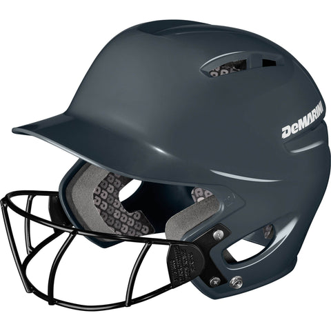DeMarini Paradox Protege Pro Helmet with Softball Mask - Charcoal