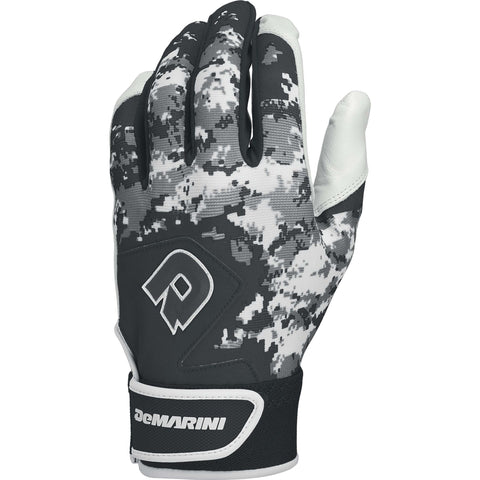 DeMarini Digi Camo II Adult Batting Gloves - Black Camo
