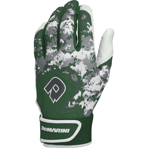 DeMarini Digi Camo II Adult Batting Gloves - Dark Green Camo