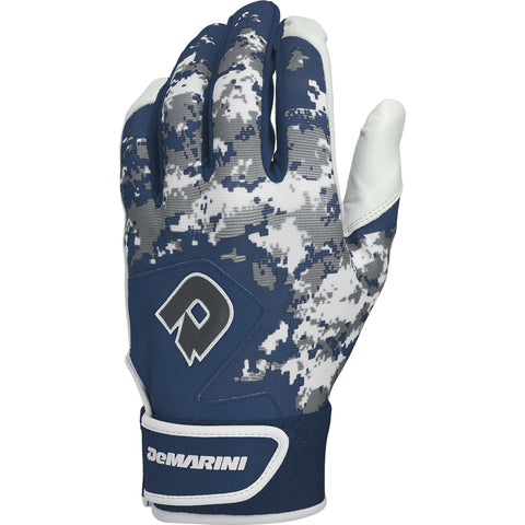 DeMarini Digi Camo II Adult Batting Gloves - Navy Camo