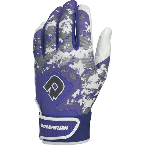DeMarini Digi Camo II Youth Batting Gloves - Purple Camo