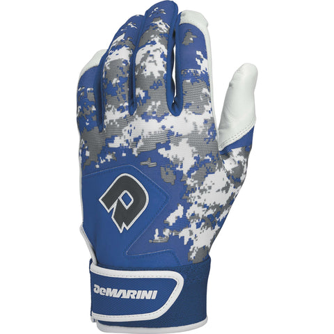 DeMarini Digi Camo II Youth Batting Gloves - Royal Camo
