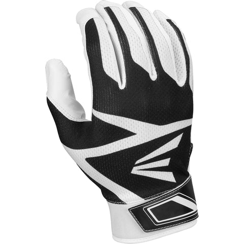 Easton Youth Z3 Hyperskin Batting Gloves - White Black