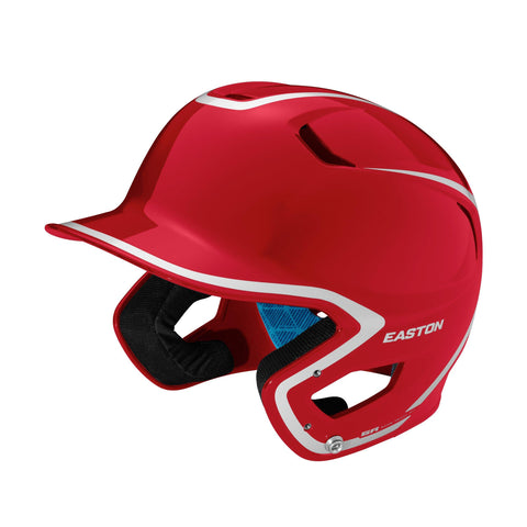 Easton Z5 2.0 High Gloss Two-Tone Batting Helmet - Red Silver
