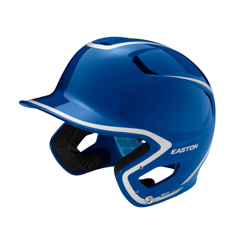Easton Z5 2.0 High Gloss Two-Tone Batting Helmet - Royal Silver