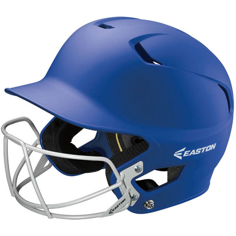 Easton Z5 Grip Solid Helmet with Baseball Facemask - Royal