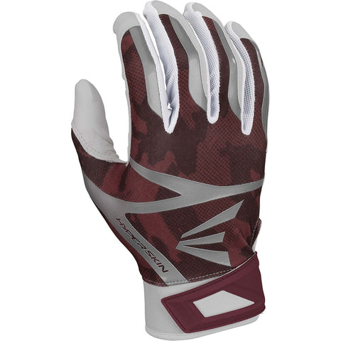 Easton Z7 Hyperskin Batting Gloves - White Maroon Camo