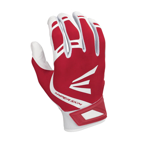 Easton ZF7 VRS Hyperskin Fastpitch Batting Gloves - White Red