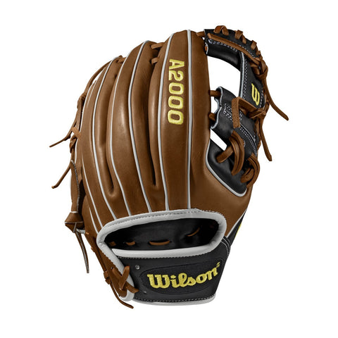 "Wilson 2019 A2000 1788 11.25"" Infield Glove WTA20RB191788 - Brown Black - Hit A Double - 1"