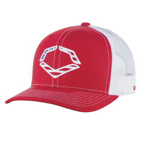 EvoShield USA Logo Snapback Hat - Red White