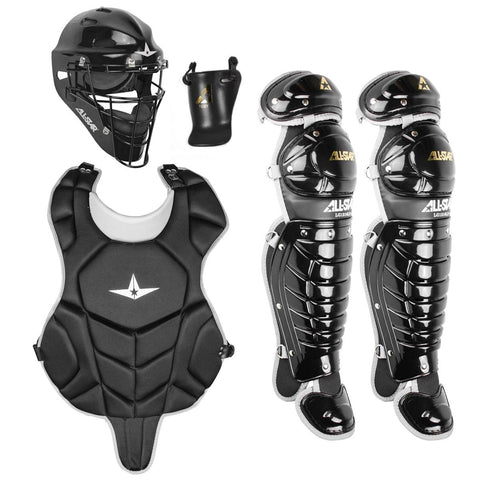 All-Star League Series CKCC912LS Youth Entry Level Catchers Gear Set (Ages 9-12) - Black
