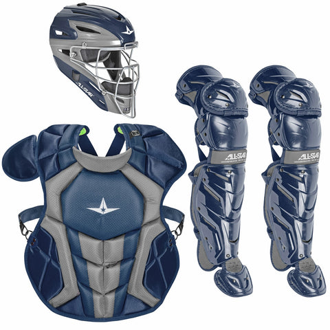 All-Star System 7 Certified NOCSAE Young Pro Catcher's Set (Ages 12-16) - Navy