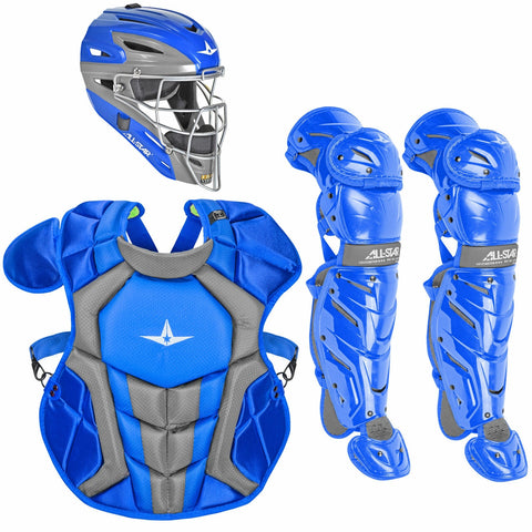 All-Star System 7 Certified NOCSAE Young Pro Catcher's Set (Ages 12-16) - Royal