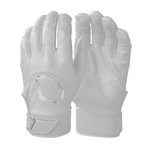 EvoShield Adult Evo Standout Batting Gloves - Team White - HIT A Double