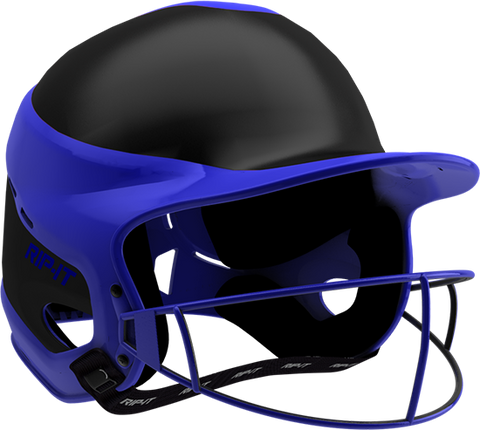 Rip-It Softball Vision Pro Helmet Away - Black Royal