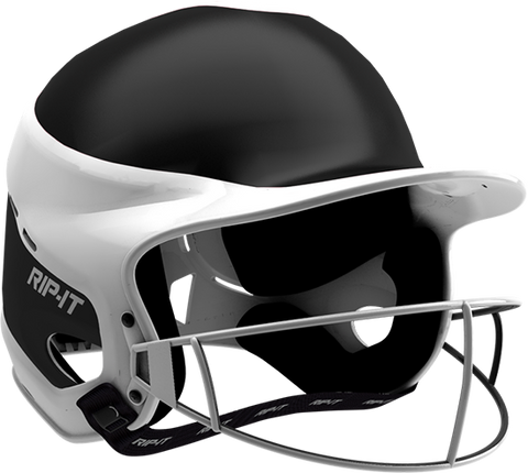 Rip-It Softball Vision Pro Helmet Away - Black White