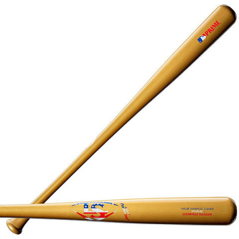 Louisville Slugger C243 Prime Maple Knox Bat - Gold