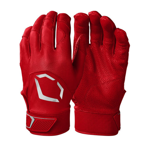 EvoShield Adult Evo Standout Batting Gloves - Scarlet - HIT A Double