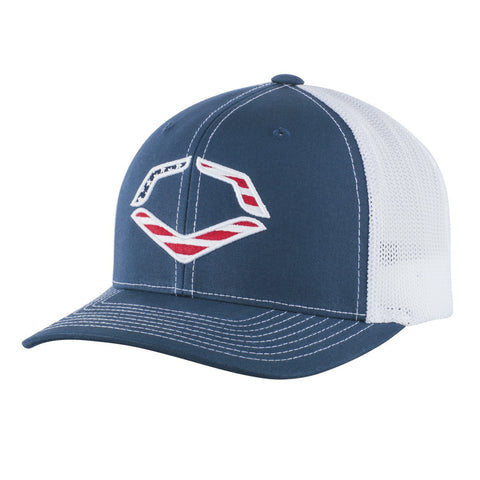 EvoShield USA Logo Flex-Fit Hat - Navy White