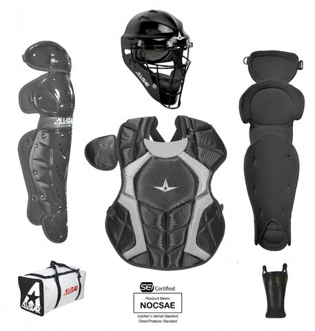 All-Star Player's Series Certified NOCSAE Catcher's Set (Ages 12-16) - Black