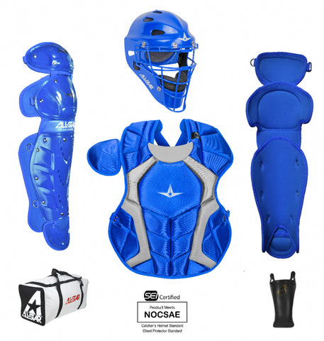 All-Star Player's Series Certified NOCSAE Catcher's Set (Ages 12-16) - Royal