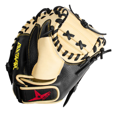 "All-Star Focus Framer CM150TM 29.00"" Training Catcher's Mitt - Tan Black - HIT A Double"