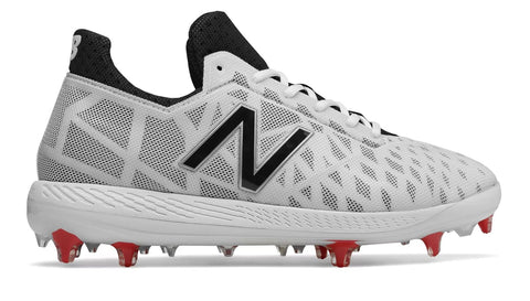 New Balance COMPv1 TPU Molded Cleat Low-Cut - White Black Silver