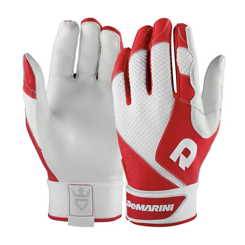 DeMarini Phantom Adult Batting Gloves - Scarlet