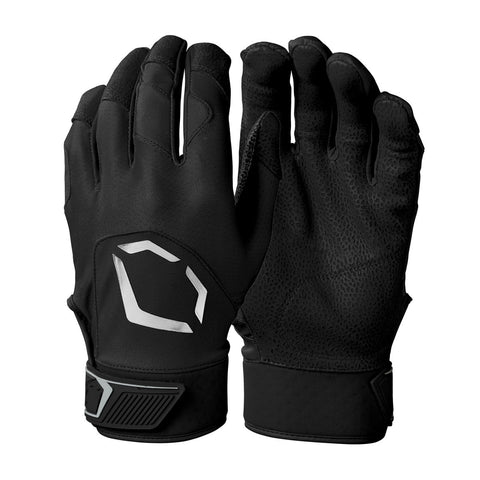 EvoShield Adult Evo Standout Batting Gloves - Black - HIT A Double